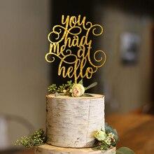 You Had Me At Hello Cake Topper, Wedding Cake Topper, Engagement Cake Topper, Anniversary Cake Topper Wedding Decoration you had me at trombone logo men s sweat shirt