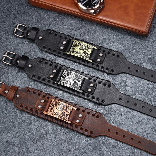 Bracelet en cuir tressé Viking 5