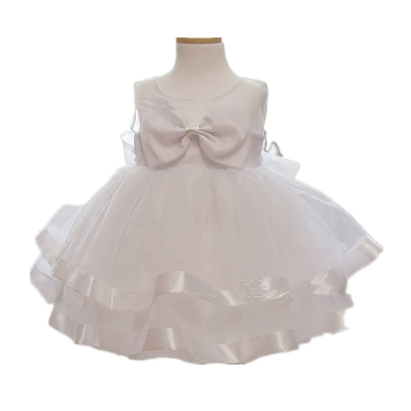 BBWOWLIN Baby Clothes Flower Girl Dresses Girl Dresses Bow Princess Wedding Birthday Party Vestidos for 2-9T Kids Clothes 701005 bow baby girls long wedding dress birthday party dresses for children flower girl lace princess costume vestidos kids clothes