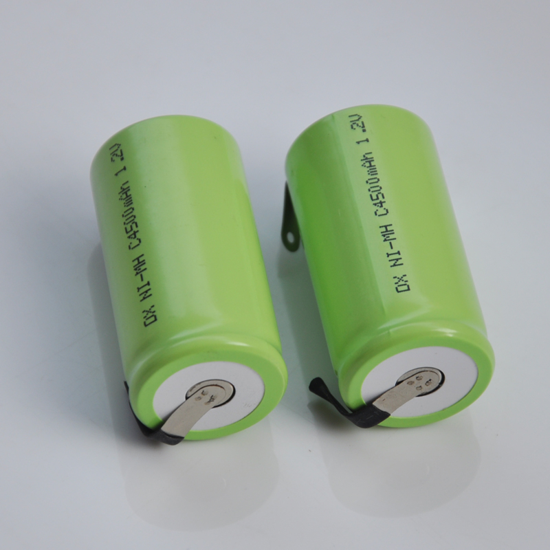 2-8PCS 1.2v Rechargeable Battery Pack Ni-Mh Nimh C Size Cell 4500mah LR14 R14 With Welding Pins Tabs For Torch And Toys Clock