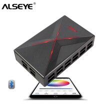 ALSEYE кулер контроллер для Компьютере Bluetooth Скорость вентилятора и LED RGB управления по телефону приложение для 14 вентилятор системы охлаждения