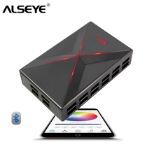 ALSEYE Fan Controller Bluetooth PC Cooling Fan Speed and RGB Control by Smart Phone APP 14 Channels Cooling System