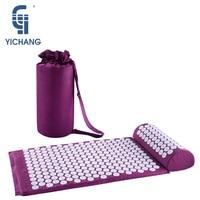 Superman massage mat acupuncture fitness yoga set bag acupressure cushion shakti back pain foot mat