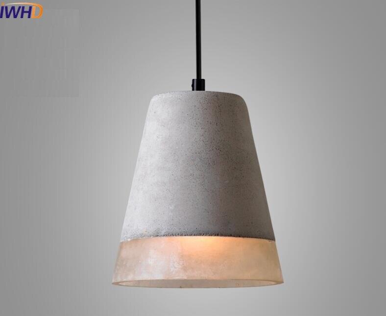 Lampada In Cemento Fai Da Te : Stile nordico loft annata cemento lampade a sospensione industriale