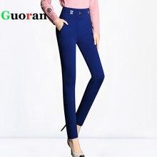 e1ea3e76039  Guoran  Female Pants 2017 New Plus Size High Stretch Pencil Pants Ladies  Office Work Wear Trousers Female Leggings High Waist