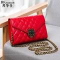 2016 new Fashion Ladies Shoulder Strap With Folded Messenger bag Handbag with Metal Buckle Leather Hand bag