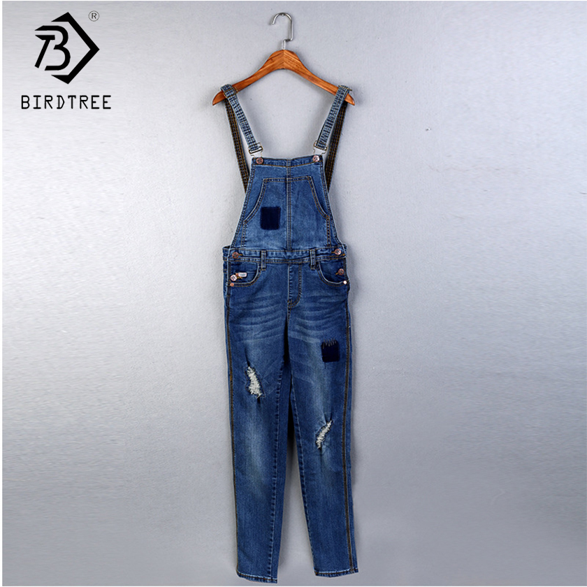 New Arrival Women Solid Denim Jumpsuit Wide Leg High Waist Sling Loose Lady Sexy Full Length Pants Female Clothing Hots S80902l Price Remains Stable Jumpsuits