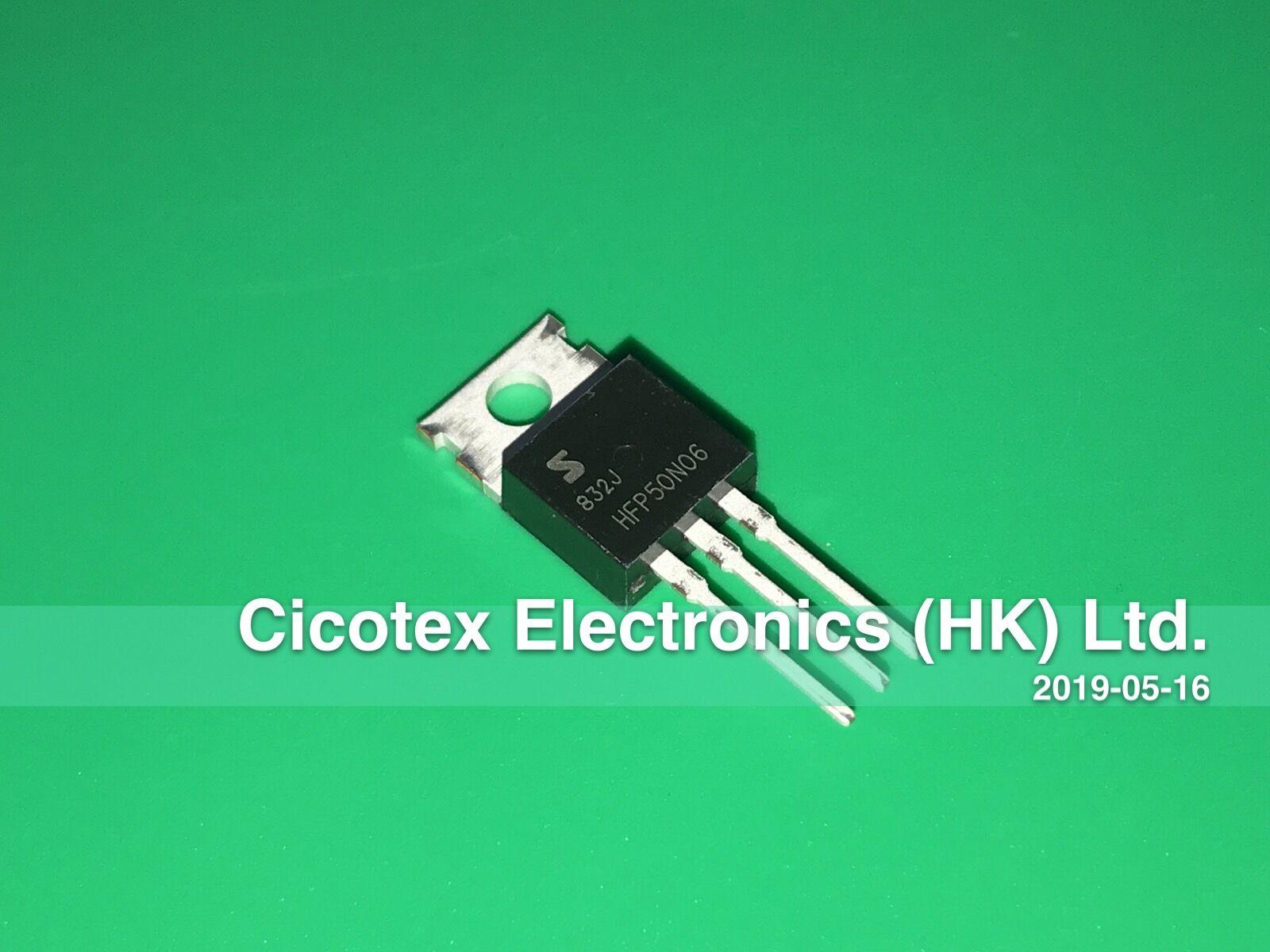 10PCS FQP50N06 50N06 MOSFET N-CH 60V 50A TO-220 NEW