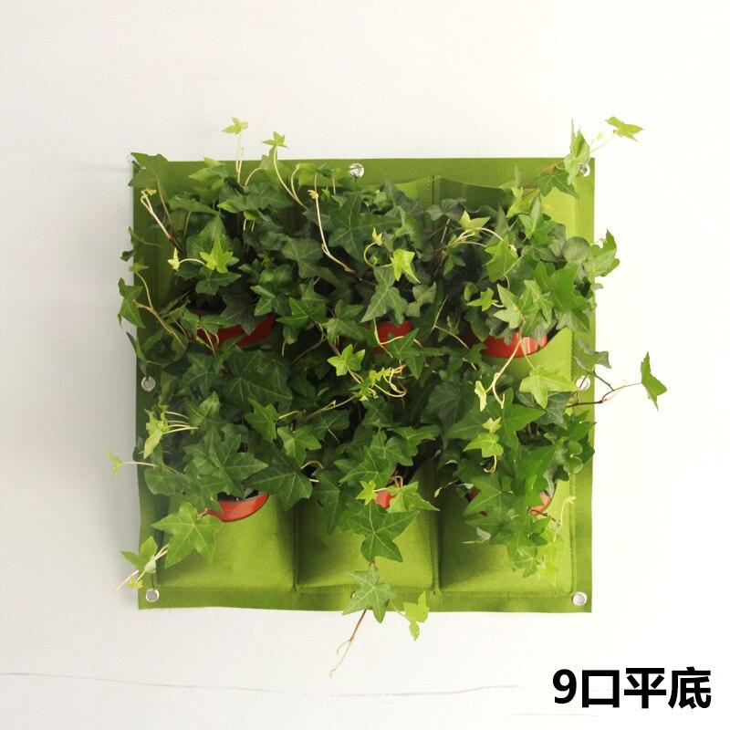 9 Pockets Vertical Vườn Rau Nghề Trồng Trong Nhà Nồi Treo Tường Ngoài Trời Các Nhà Máy Trong Nhà Dâu Tây Container 50X50 CM Grow túi