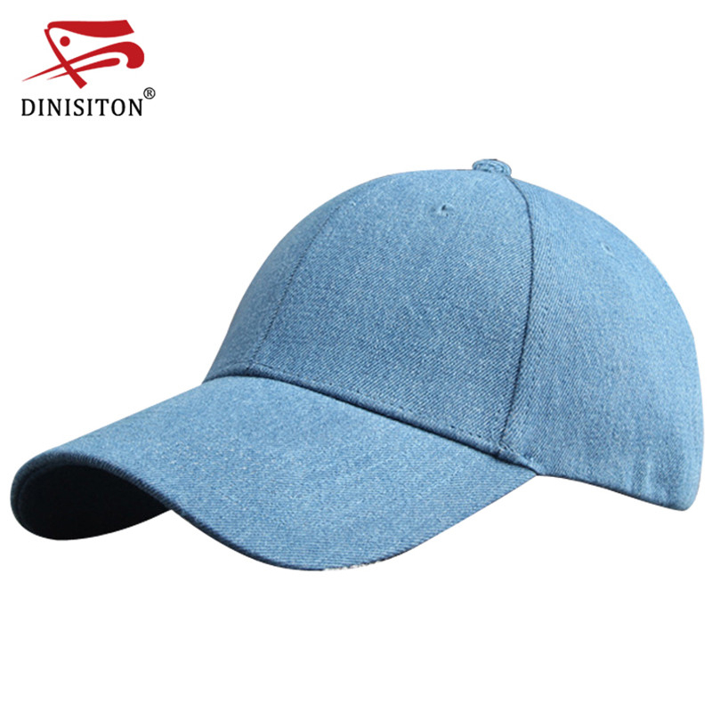 цена на DINISITON Autumn Fashion Caps Simple Men Women Hat Baseball Cap Hip Hop Hats Snapback Adjustable Jeans Cap For Winter BQ03