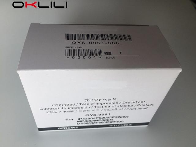 Original qy6-0061-000 qy6-0061 da cabeça de impressão da cabeça de impressão para canon ip4300 ip5200 ip5200r mp600 mp600r mp800 mp800r mp830