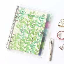 A5 A6 Spiral Notebook Loose Leaf Transparent PP Separator Pages Calendar Plate Planner Accessories