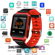 Ini Baru Smart Gelang Pria Bluetooth Video Player TF Pesan Push Kamera Sport Pedometer Digital Smartwatch Relogio Masculino(China)