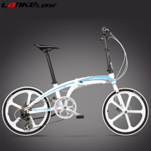 QF750 20 Inch Folding Bike, Oil Disc Brake, Magnesium Alloy Integrated Wheel, Portable   Bicycle, Lightweight
