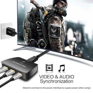 Image 3 - Porta HDMI Switch 4 3 K x 2 K/60Hz 3 Em 1 fora com Cabo de Alimentação suporta 1080 P & 3D HD Adaptador de Áudio para o Portátil Notebook PC