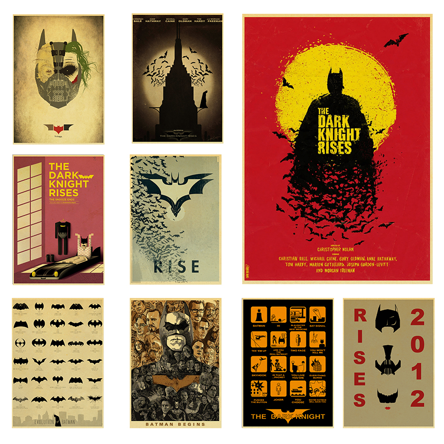 US $1.81 17% OFF|The Evolution of Batman Poster Movie/Films Retro Style on