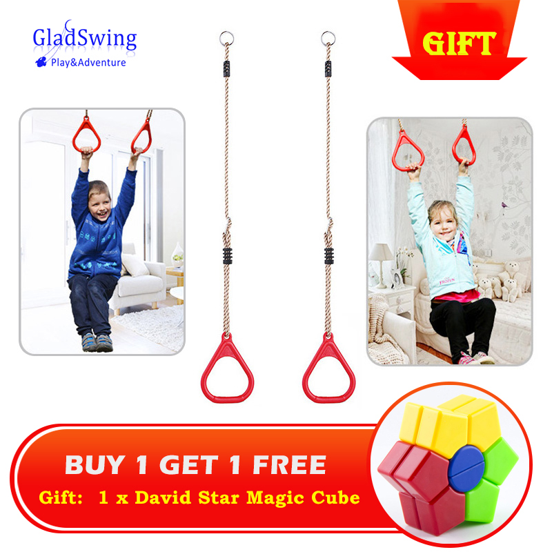 Free Magic Cube Gift! Children Playground Flying Gym Rings Swing Flying Pull Up Ring Sports Outdoor Indoor Gym Swing Games -48
