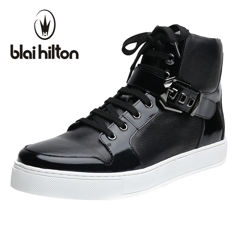 Blaibilton Autumn Winter Mens Ankle Boot 100% Luxury Genuine Cow Leather Fashion Side Zip Buckle Casual Western Boots Men Shoes men suede genuine leather boots men vintage ankle boot shoes lace up casual spring autumn mens shoes 2017 new fashion