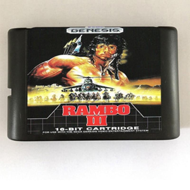 Rambo III Game Cartridge Newest 16 bit Game Card For Sega Mega Drive / Genesis System