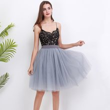 New Puffty Layered TUTU Tulle Skirts Womens High Waist Midi Knee Length Chiffon Skirt Jupe Female Tutu Skirts Faldas Saia(China)