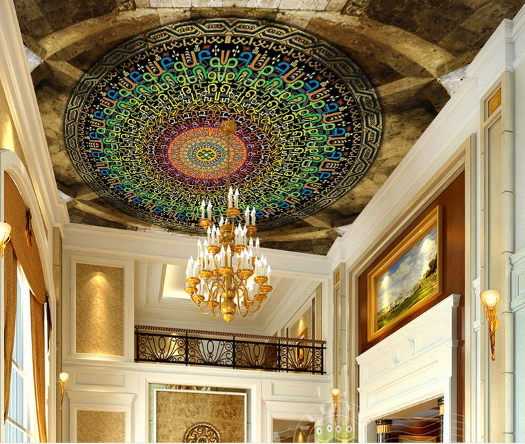 custom 3d ceiling wallpaper Multicolored dynamic English circle 3d ceiling murals wallpapers for living room 3d photo ceiling sky ceiling wallpaper photo wallpaper for kids living room bedroom nonwoven wallpaper 3d ceiling murals wallpaper