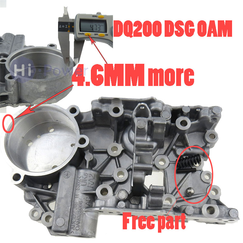 New 4.6MM DQ200 0AM OAM DSG 7-Speed Auto Transmission Accumulator Housing for Audi VW 0AM325066AC 0AM325066C 0AM325066AENew 4.6MM DQ200 0AM OAM DSG 7-Speed Auto Transmission Accumulator Housing for Audi VW 0AM325066AC 0AM325066C 0AM325066AE