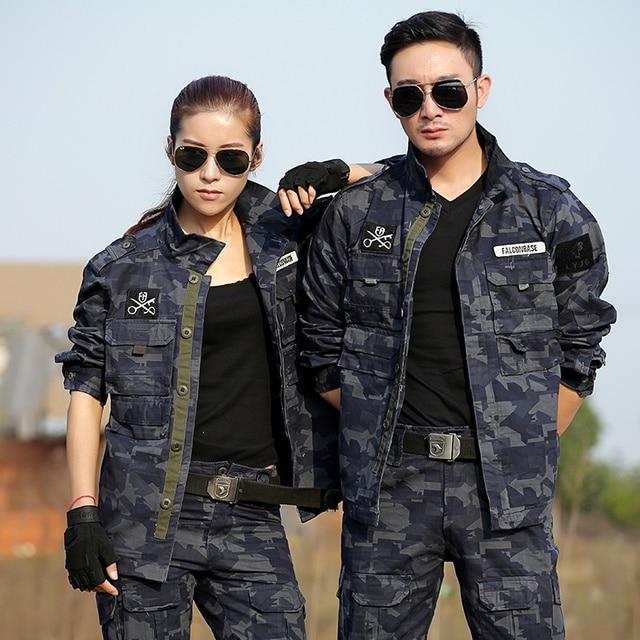 Military Uniform Tactical Camouflage Army Men Resistant Black Hawk Ropa Caza Combat CS Uniforms Militar Cotton Clothing Female