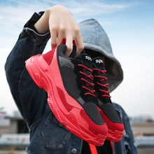 New Mesh Sports Men Chunky Sneakers Brand Increasing Fashion Red Black Running Shoes Triple S INS Male Balancia Trainers GYM