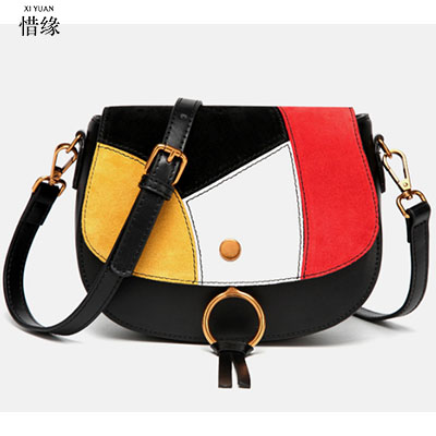 XIYUAN BRAND women cow Genuine real Leather flap Shoulder & Crossbody Bags Fashion Single Cover plaid saddle messenger bags red little tikes матрас для пеленания little tikes