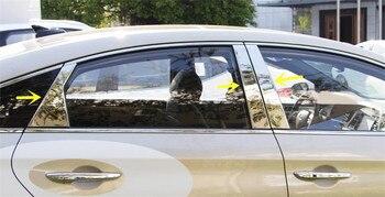 6 pz S. Acciaio Inox Finestra Centrale Posti a Colonna Assetto Della Copertura autoadesivo per Hyundai Sonata (LF) 2015