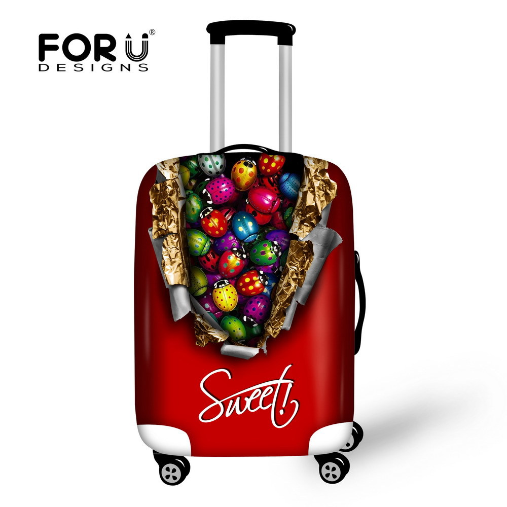Stylish Candy Print Luggage Case Cover Apply For 18/20/22/24/26/28/30 inch Suitcase Elastic Luggage Cover Fashion Suitcase Cover