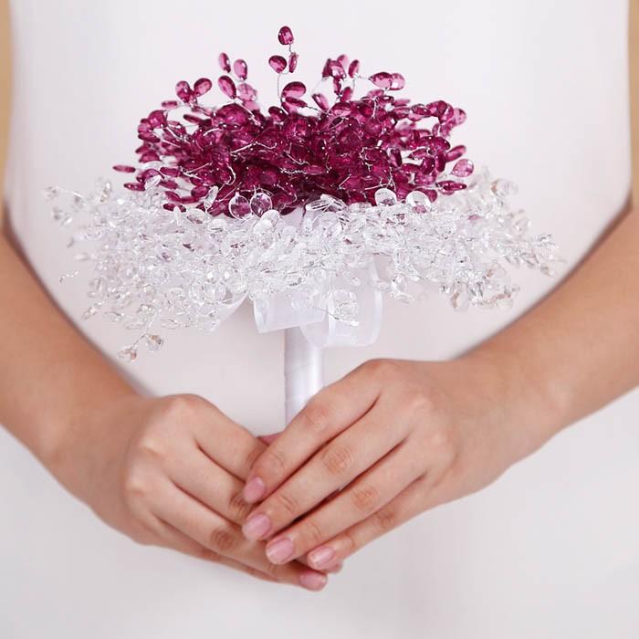 New Design Crystal Wedding Bouquet Bride Bouquet Bridal Wedding Bouquet Bridesmaid Artificial flower Hand Made beaded Brooch (7)