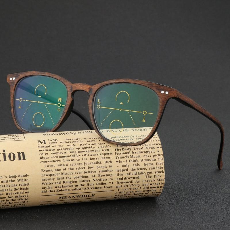 bc8af7ae3cb WEARKAPER Brand Vintage Multi focal Progressive Reading Glasses Men Women  Presbyopic Wood Eyeglasses For Male Female Eyewear-in Reading Glasses from  Apparel ...