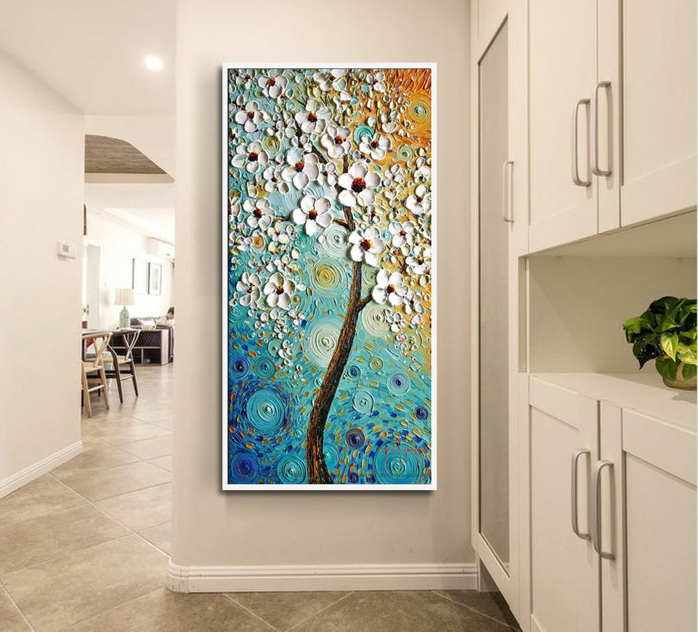 Cheap Living Room Decor Cabinet Storage Decorative Pictures Modern Abstract Oil Painting Acrylic ...