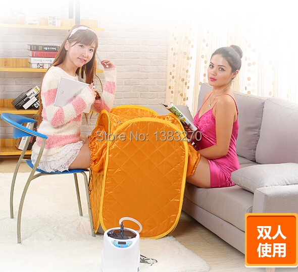 2015 Sauna box steam foot bath bucket steam steam foot sauna massagge double people use relax  slimming