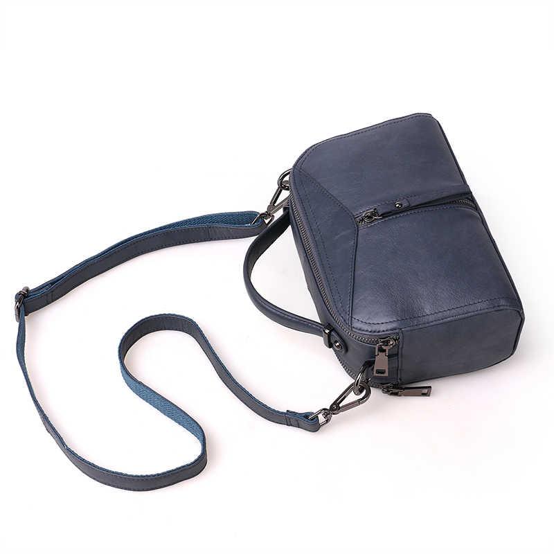 Mulheres famosas bolsas de marca macio couro genuíno mensageiro sacos sutura boston saco inclinado ombro das senhoras do vintage designer tote