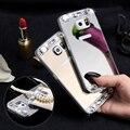 S7 S6 Край Край Блеск Зеркало Crystal Case Для Samsung Galaxy S6 Edge S7 S7 Край J5 J7 A3 A5 A7 2016 Ультра Шику Алмаз Крышка