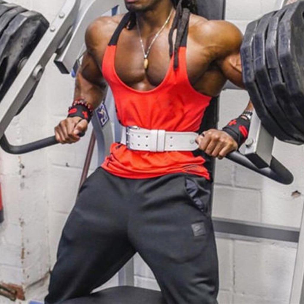 Gym Clothing Bodybuilding Men's Muscle Sleeveless   Tank     Top   Bodybuilding Sport Fitness Vest debardeur homme