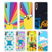 Silicone Phone Case Adventure Time Finn Jake Printing for Samsung Galaxy A8S A9 A8 Star A7 A6 A5 A3 Plus 2018 2017 2016 Cover