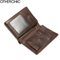 Wallet Clutch Vintage Men Wallets Leather Wallet Cow Leather Coin Purse Card Holder Purses 17Y03 04