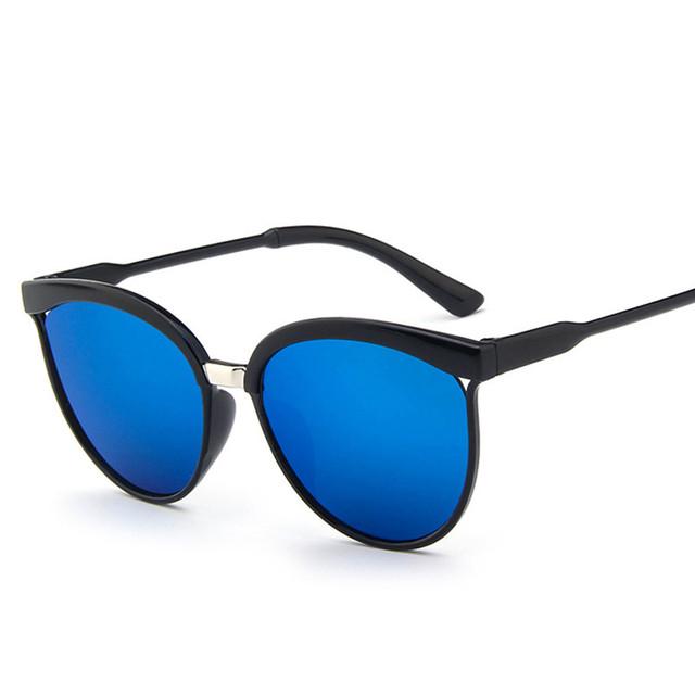 Cat Eye Sunglasses Women Brand Designer Fashion Coating Mirror Sexy Cateye Sun Glasses For Female UV400 Women's Glasses