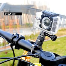 Sport Action Camera Holder Bike Bicycle Stand Holder Cam Mount 360Rotation Aluminum Handlebar Holder for Go Pro Hero(China)