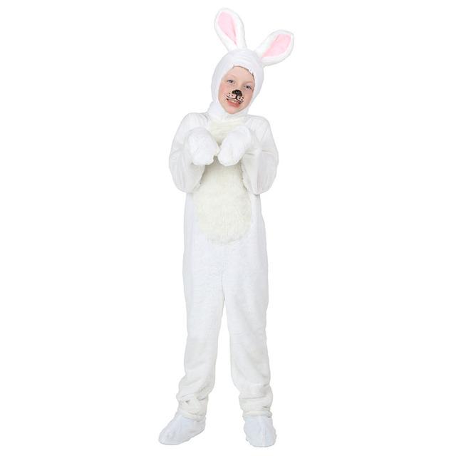 Niño Conejo Blanco Traje de Invierno Trajes de Cosplay Warm Winter Dress Up Ropa Animal de La Historieta Muchacha de Los Niños Kids Boy Outfit