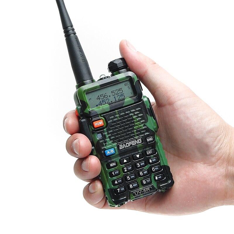Baofeng UV-5R Amateur Portable Radio Talkie Walkie UV5R 5 w FM Radio 128CH Double Bande à Deux Voies CB Ham Radio UV5R HF Émetteur-Récepteur