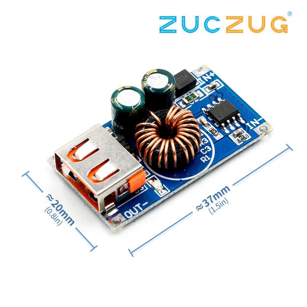 USB DC понижающий модуль 12В 24В к QC2.0 QC3.0 Быстрая зарядка мобильного телефона зарядная плата для Apple Huawei FCP быстрое зарядное устройство
