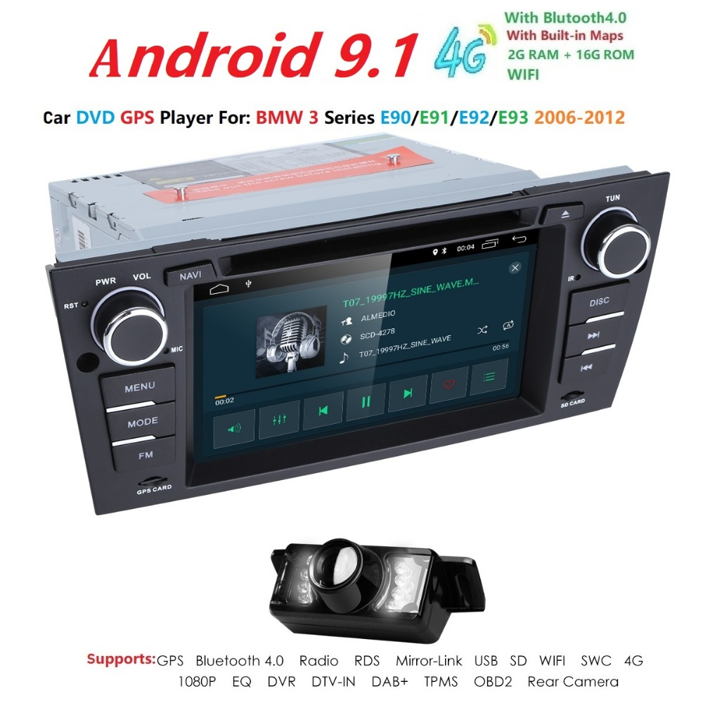 Android 9 for bmw E90 E91 E92 E93 3 series car dvd gps navigation wifi radio bluetooth Steering wheel Canbus built-in mic & mapAndroid 9 for bmw E90 E91 E92 E93 3 series car dvd gps navigation wifi radio bluetooth Steering wheel Canbus built-in mic & map