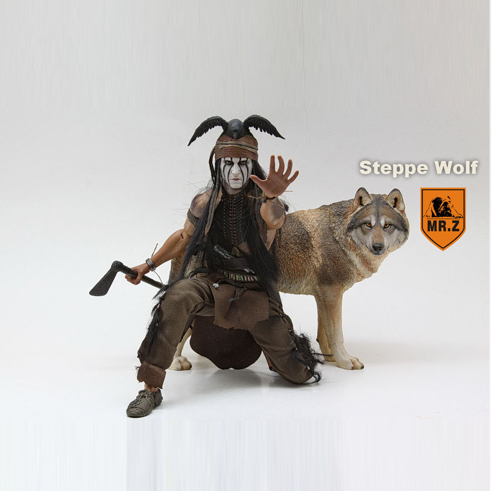 Animal-Model-Set Wolf Scene-Accessories Soldier-Element Prairie 1/6