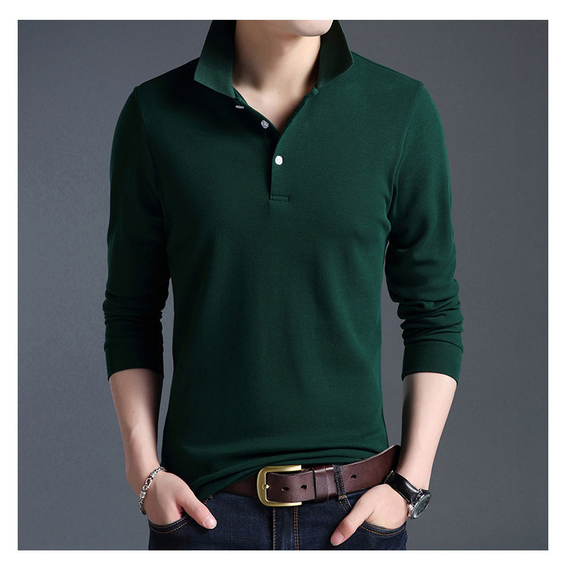 Youth popular long sleeved men 39 s t shirt casual youth solid color bottoming shirt spring autumn new Korean cotton T shirt men in T Shirts from Men 39 s Clothing