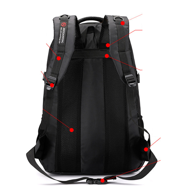 60L unisex men waterproof backpack travel pack sports bag pack Outdoor Mountaineering Hiking Climbing Camping backpack for male 4