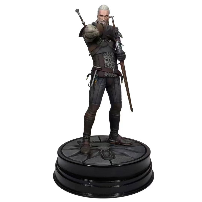 The Witcher 3 Wild Figure Hunt Geralt of Rivia Action Figure Model Toy 20.5cm mr froger carcharodon megalodon model giant tooth shark sphyrna aquatic creatures wild animals zoo modeling plastic sea lift toy